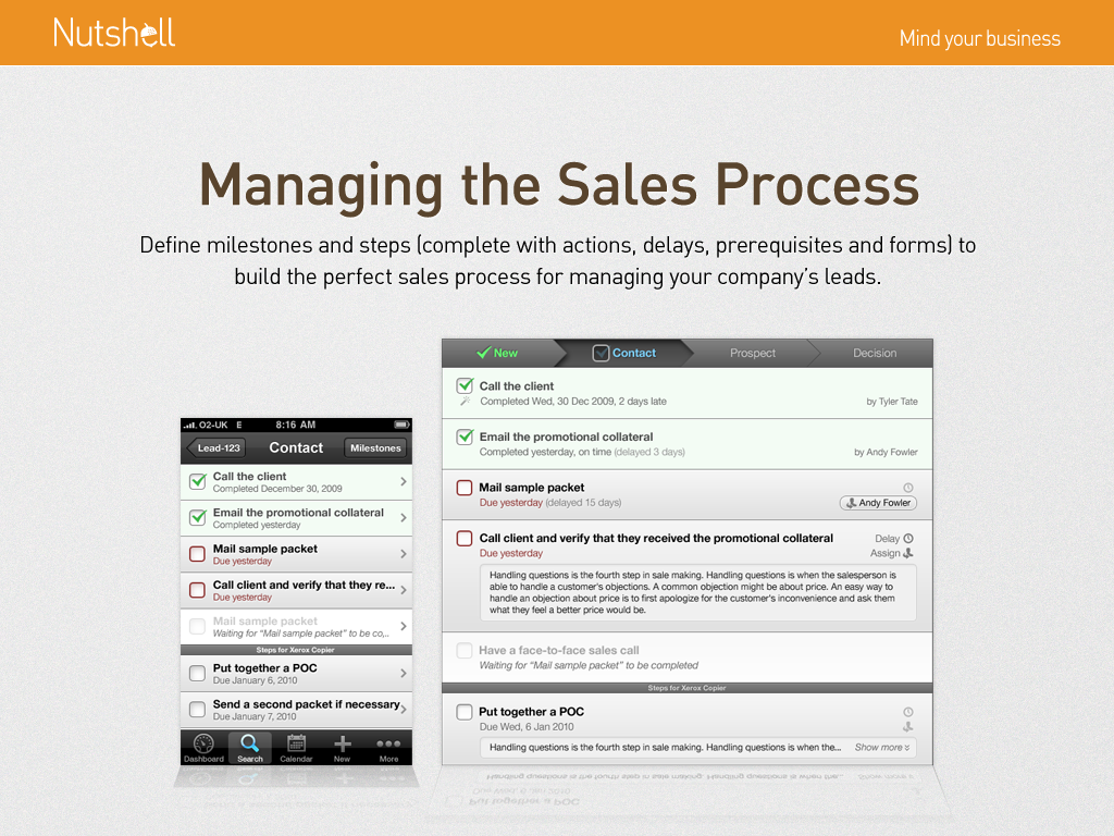 Manage the sales process